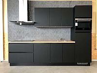 Greeploze rechte keuken 300 cm zwart (206)