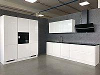 Hoogglans witte parallelle keuken (M204)