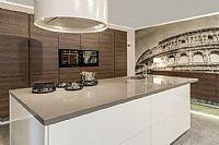 Design cucina zera hoogglans wit- eiken