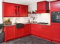 Landelijke keuken - Rood
