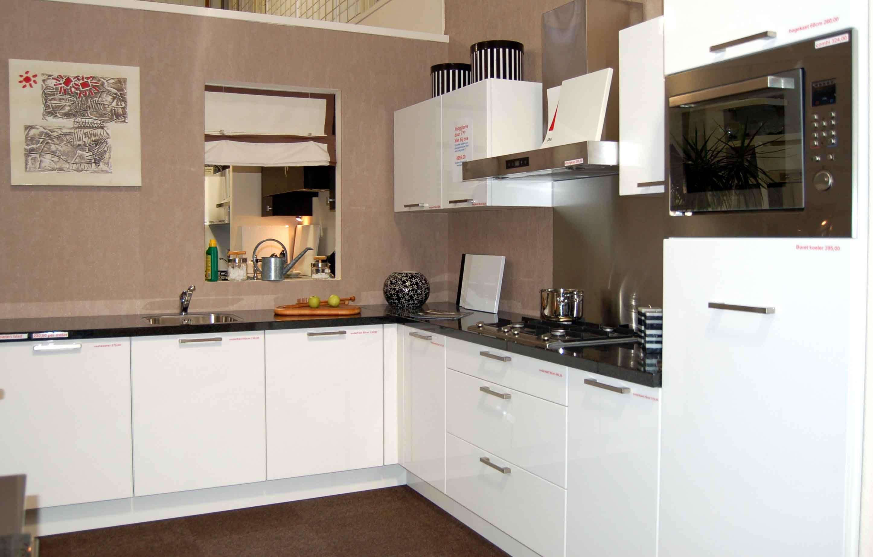 ... keukens voor zeer lage keuken prijzen  Hoek Hoogglans Wit [32494