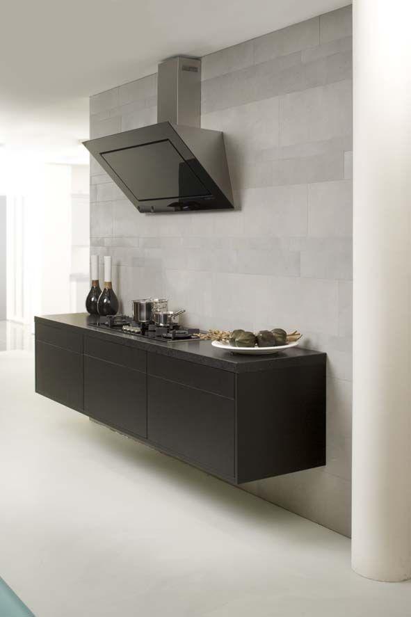 Zwevende Keuken Showroom : keukens voor zeer lage keuken prijzen Zwarte zwevende keuken 5 FI