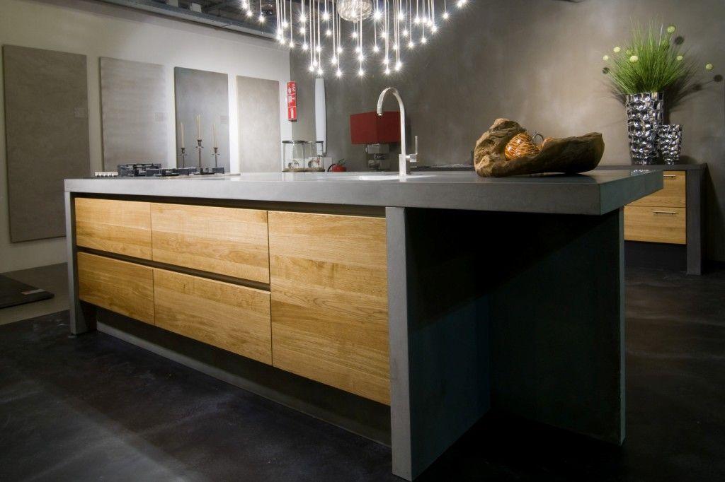 Houten Keuken Met Betonnen Blad : keukens voor zeer lage keuken prijzen Betonnen keuken [42732