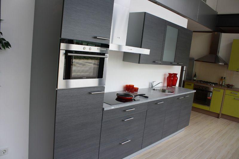 Antraciet Keuken : keukens voor zeer lage keuken prijzen Fino Antraciet eiken [44734