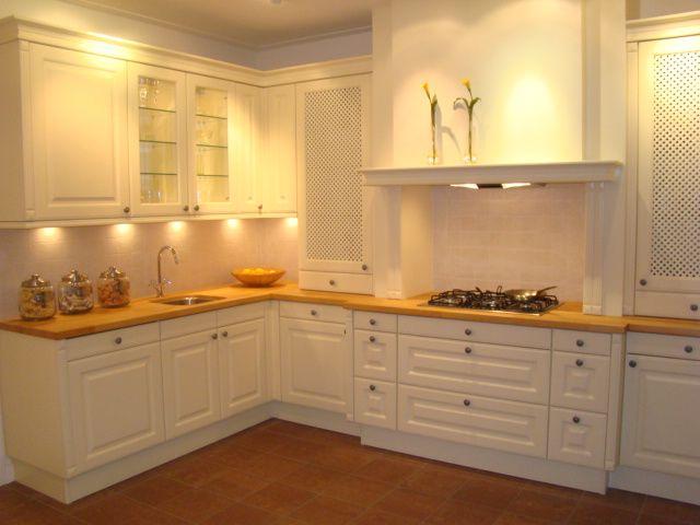 Keuken Wit Werkblad : keuken prijzen Landelijke keuken met massief houten werkblad [45572
