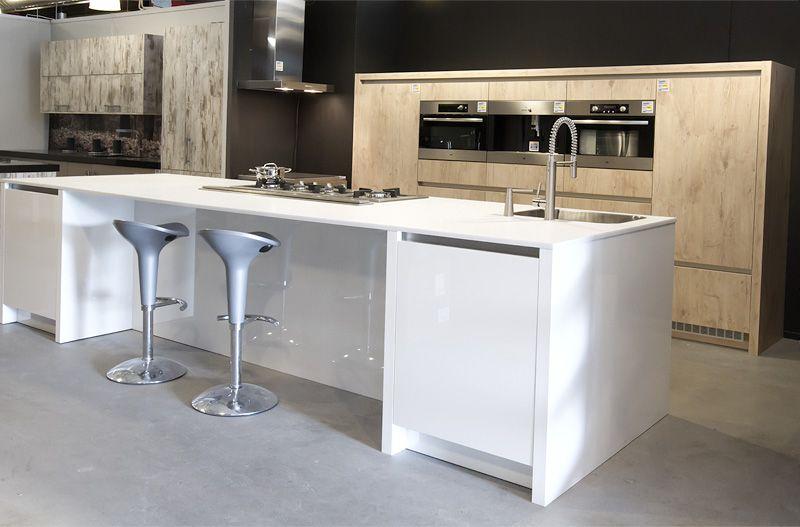 Keuken Wit Hout : keukens voor zeer lage keuken prijzen cubica hout met wit [37138