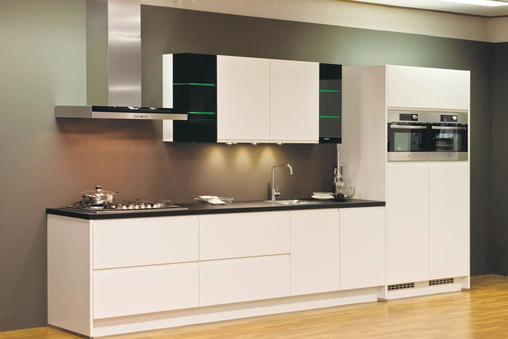 Keuken Greeploos Mat Wit : keukens voor zeer lage keuken prijzen Integra mat wit [43280