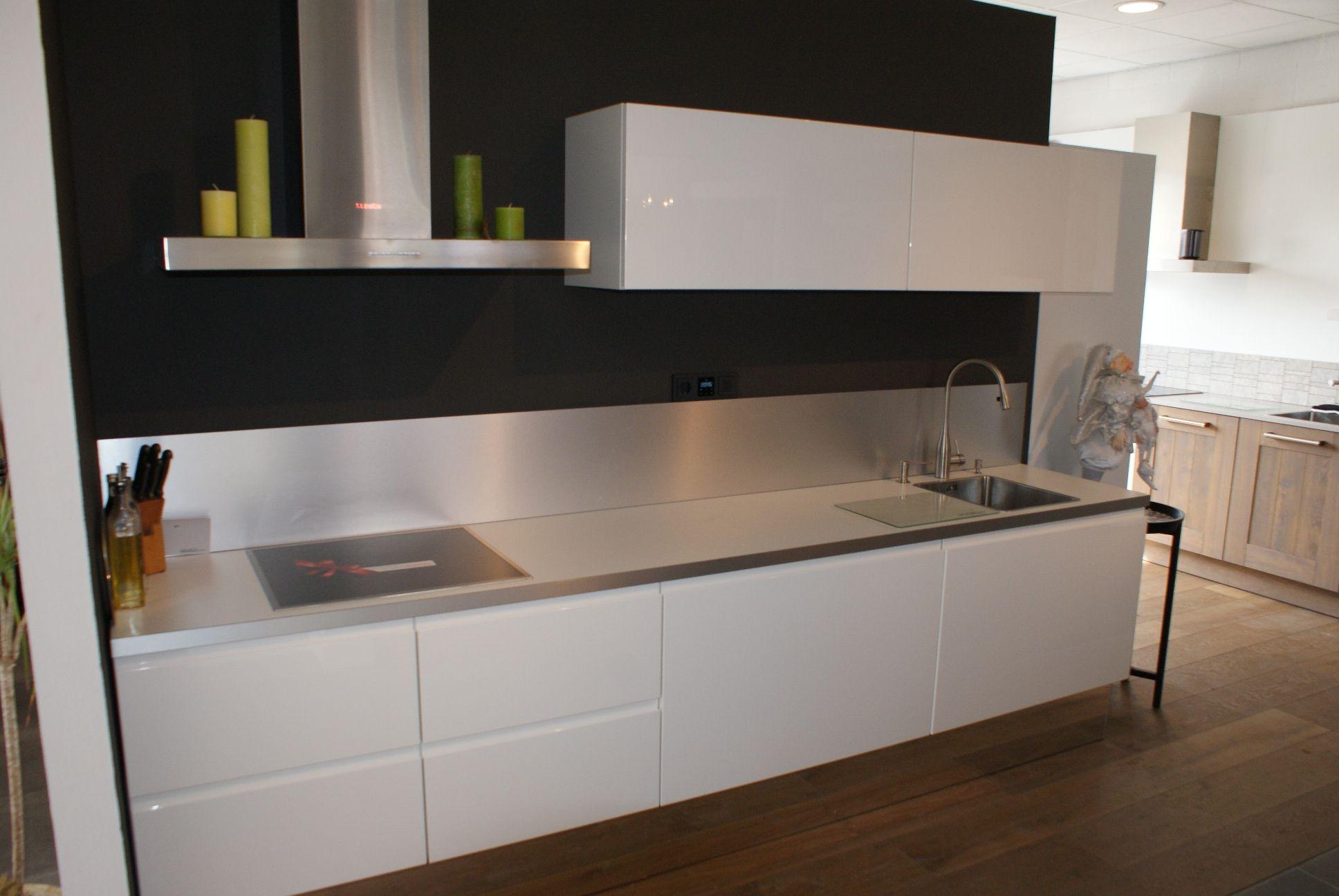 kunststof keuken semi greeploos wit  consenza for ., Meubels Ideeën