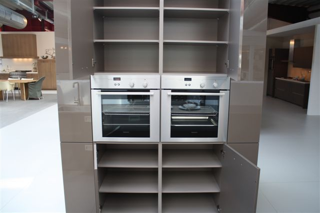 ... keuken prijzen  Hoogglans keuken met kastenwand cacao 10.3 [50985