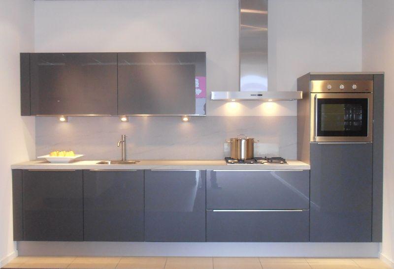 Keuken Antraciet Hoogglans : lage keuken prijzen Rechte keuken in antraciet hoogglans [47274