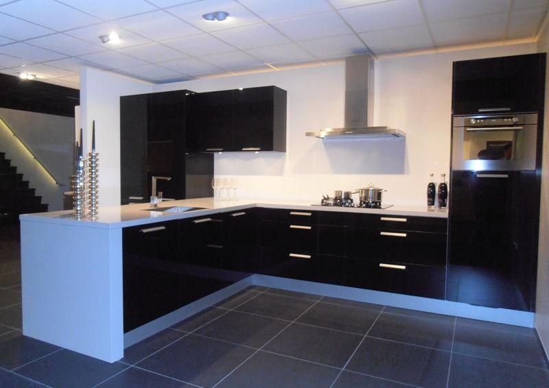 Showroomkeukens alle showroomkeuken aanbiedingen uit nederland keukens voor zeer lage keuken - Eiland zwarte bad ...