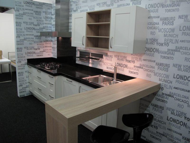 Showroomkeukens alle showroomkeuken aanbiedingen uit nederland keukens voor zeer lage keuken for Kleine amerikaanse keuken met bar