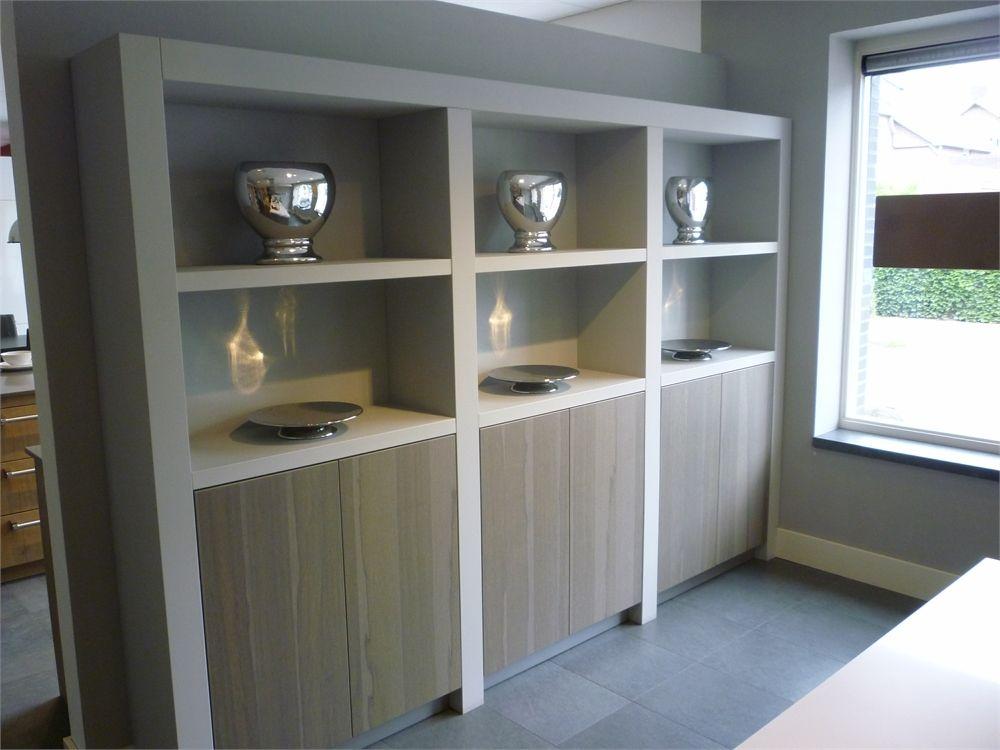 Kast Wit Hout : Boekenkast origineel design sculptuur retro meubels witte