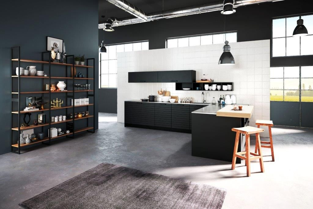 Keuken Houten Schiereiland : Voorbeelden schiereiland keuken kleine keuken met bar tips